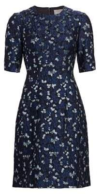 Lela Rose Holly Textured Flare Dress