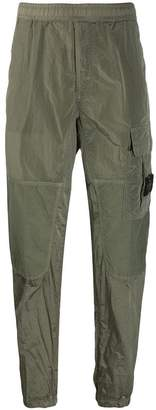 logo patch cargo trousers