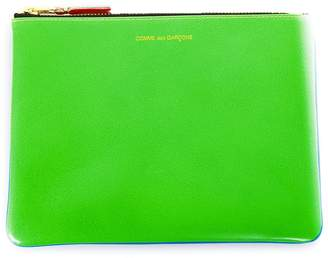 Comme des Garcons Fluo Blue & Green Leather Wallet