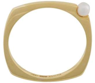 ALIITA (アリータ) - Aliita 9kt gold pearl detail ring