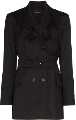 Simone Rocha ruffle front blazer