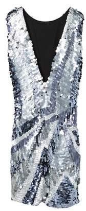 MANGO Sequin contrast-bodice dress