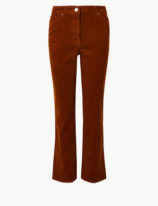 Marks and Spencer Bootcut Leg Cropped Trousers