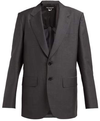 Junya Watanabe Oversized Single Breasted Wool Blend Blazer - Womens - Grey
