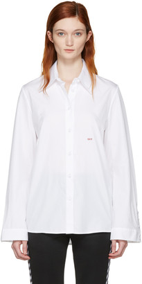 Off-White White Slim Fit Dress Shirt $495 thestylecure.com