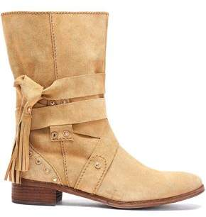 See by Chloe Fringe-Trimmed Suede Boots