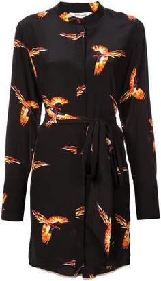 Diane von Furstenberg bird print shirt dress