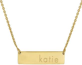 Initial Reaction Golden Name Bar Necklace