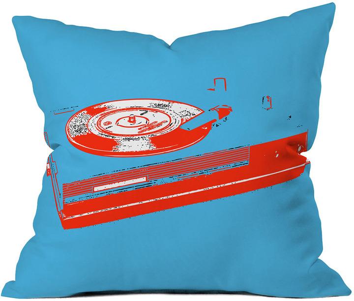Areaware Romi Vega Record Player Throw Pillow