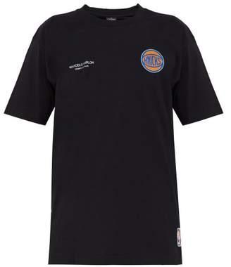 Marcelo Burlon County of Milan Knicks Logo Cotton Jersey T Shirt - Mens - Black Multi