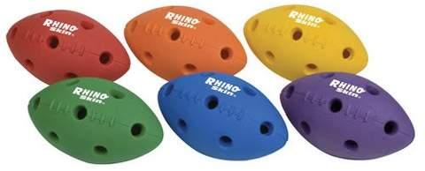 Champion Sports RHINO Skin Hole Pattern Mini Football Set