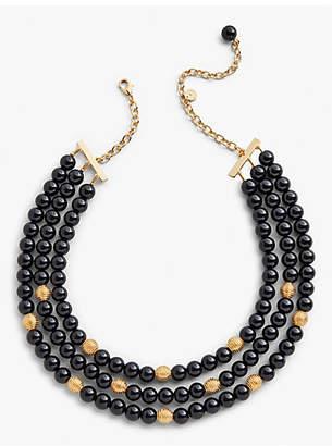 Talbots Three-Strand Glass Necklace