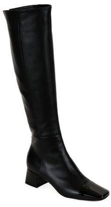 Gianvito Rossi Tall Leather Cap-Toe Knee Boots