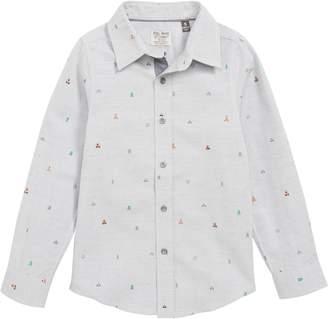 Charli Rebel James & Camping Print Woven Shirt