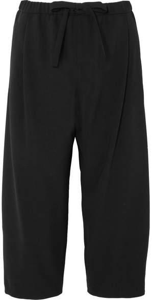 Michael Kors Collection - Cropped Wool Wide-leg Pants - Black