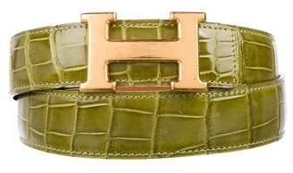 Hermes Porosus Crocodile H Belt Kit