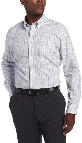 Nautica Men's Long Sleeve Wrinkle Resistant Glen Plaid Woven