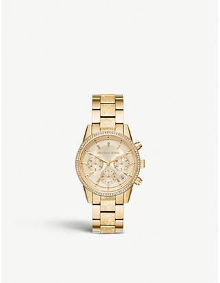 Michael Kors MK6597 Ritz crystal-embellished stainless steel watch
