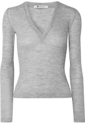 Alexander Wang Ribbed Wool Sweater - Gray