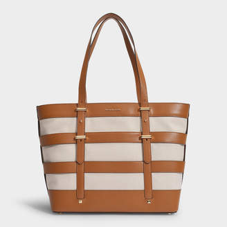 MICHAEL Michael Kors Marie Cage Tote In Natural Canvas