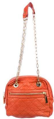 Tory Burch Quilted Leather Chain-Link Shoulder Bag