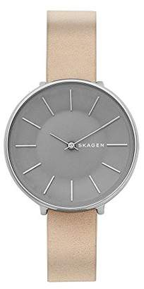 Skagen Women's 'Karolina' Quartz Stainless Steel and Leather Casual Watch