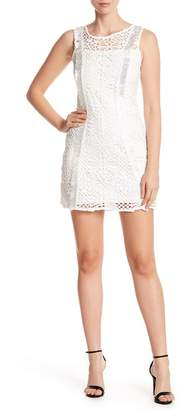 Bebe Lace Crew Neck Dress