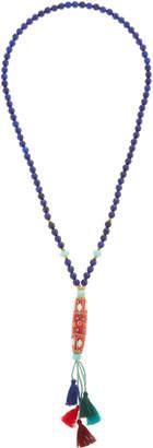 Panacea Quartz Beaded Multi-Tassel Necklace