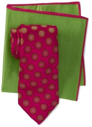 Ted Baker Daisy Medallion Silk Tie & Pocket Square Set