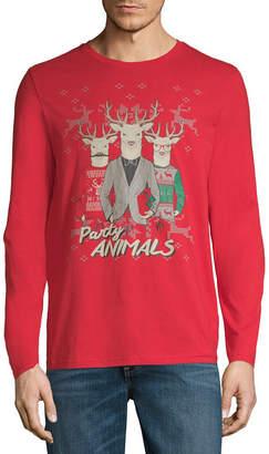 NOVELTY SEASON Reindeer Party Animals Christmas Graphic Tee