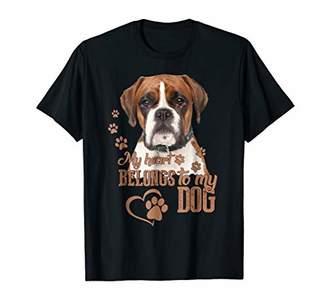 My heart belongs to my dog - Boxer shirt