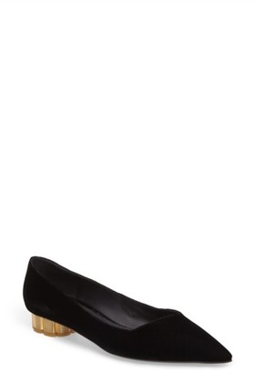 Women's Salvatore Ferragamo Flower Heel Pump $595 thestylecure.com