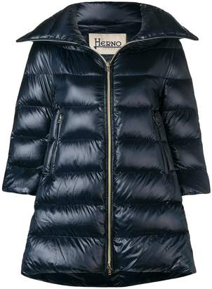 Herno padded zipped coat