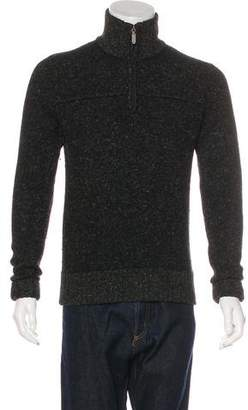 Billy Reid Wool & Linen Half-Zip Sweater