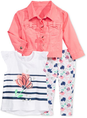 Nannette 3-Pc. Jacket, T-Shirt & Leggings Set, Baby Girls (0-24 months) $50 thestylecure.com