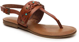 Women's Zigi Soho Bevelyn Flat Sandal -Cognac $80 thestylecure.com