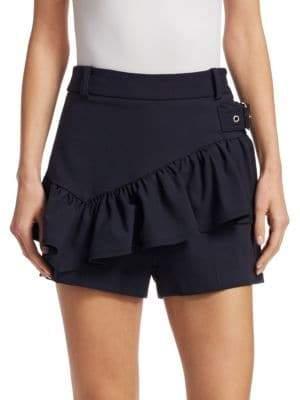 3.1 Phillip Lim Women's Ruffled Shorts - White - Size 8