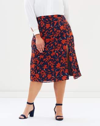 ICONIC EXCLUSIVE - Sandra Sheer Midi Skirt