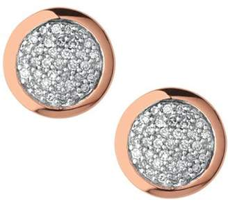 Links of London Diamond Essentials Round Pavé Diamond Stud Earrings