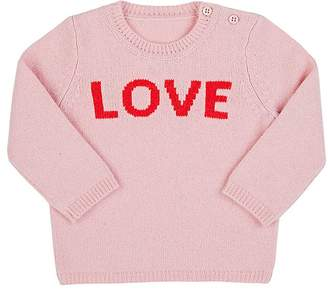 """Lisa Perry Kids' """"Love"""" Cashmere Sweater"""