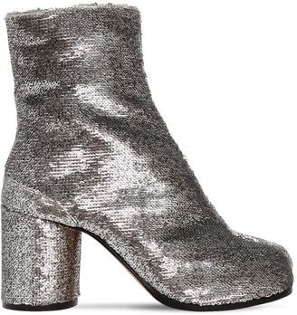 Maison Margiela 80MM TABI SEQUINED ANKLE BOOTS