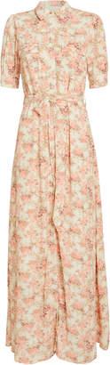 Notes Du Nord Lydia Floral Print Shirt Dress