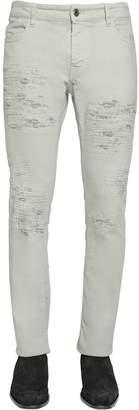 Just Cavalli 17cm Stretch Ripped Denim Jeans