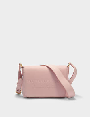 Burberry Small Burleigh Crossbody Bag in Pale Ash Rose Grained Calfskin