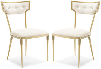 Caracole Set of 2 Goes Around Side Chairs - Champagne Gold