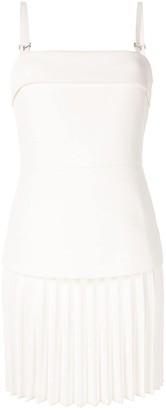 Dion Lee Linear Pleat E-hook mini dress