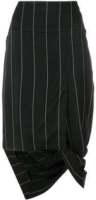Haider Ackermann asymmetric striped skirt
