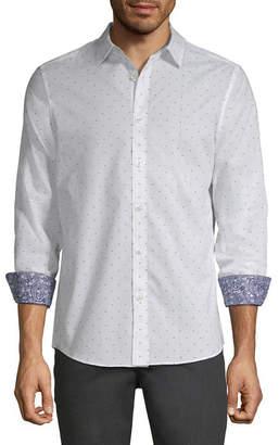 AXIST Axist Long Sleeve Pattern Button-Front Shirt