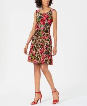 Connected Tiered Floral A-Line Dress