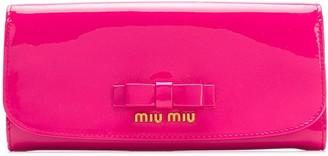 Miu Miu snap fastening bow wallet